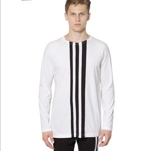 Y-3 x adidas Yohji Yamamoto striped white shirt M
